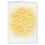Ohm Peace Greeting Card