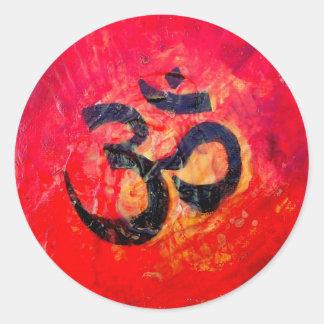 Ohm Round Sticker
