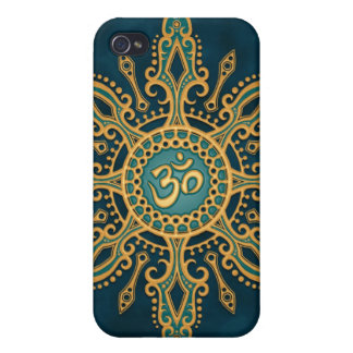 Ohm Star (blue & yellow) iPhone 4/4S Cover