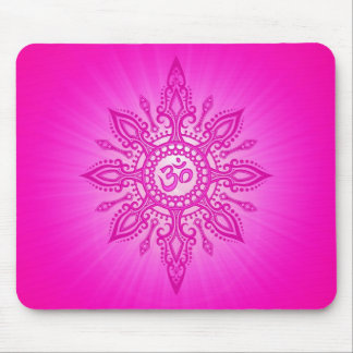 Ohm Star – pink Mouse Pad