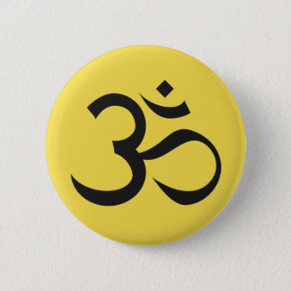 Ohm Symbol on Yellow Background 2 Inch Round Button