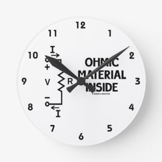 Ohmic Material Inside (Ohm's Law) Wallclock