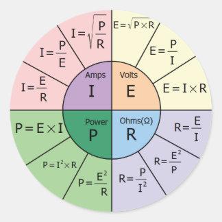 Ohm's Law Classic Round Sticker
