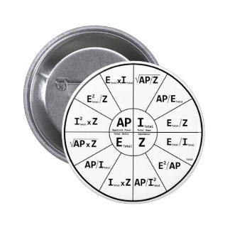 Ohms Law for AC 2 Inch Round Button