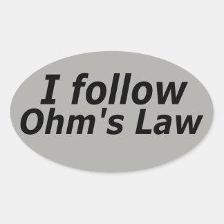 Ohm's Law Oval Sticker