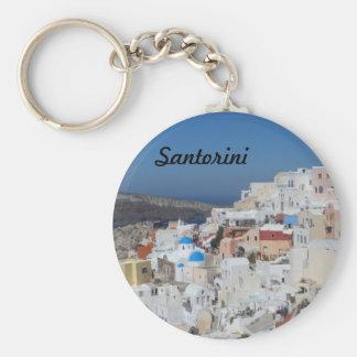 Oia, Santorini- Greece Basic Round Button Keychain