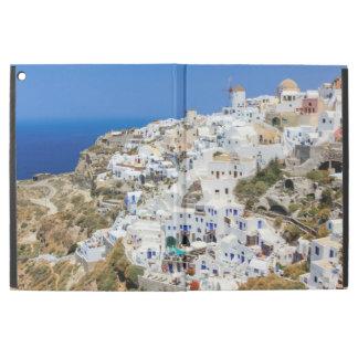 Oia village on Santorini island, north, Greece