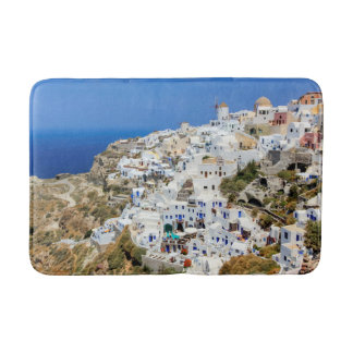 Oia village on Santorini island, north, Greece Bath Mat