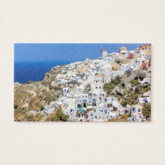 Oia village on Santorini island, north, Greece Business Card