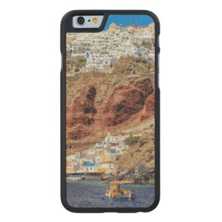 Oia village on Santorini island, north, Greece Carved Maple iPhone 6 Case