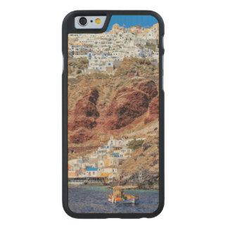 Oia village on Santorini island, north, Greece Carved® Maple iPhone 6 Slim Case
