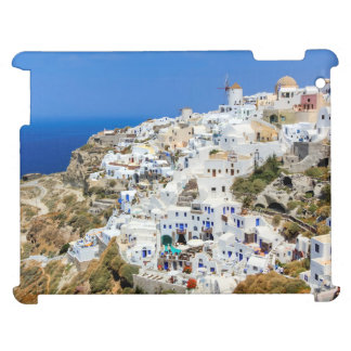 Oia village on Santorini island, north, Greece iPad Cases