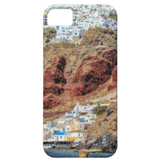 Oia village on Santorini island, north, Greece iPhone 5 Covers