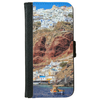 Oia village on Santorini island, north, Greece iPhone 6 Wallet Case