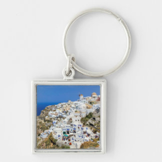 Oia village on Santorini island, north, Greece Keychain