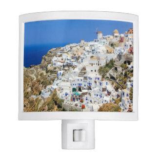 Oia village on Santorini island, north, Greece Night Lites