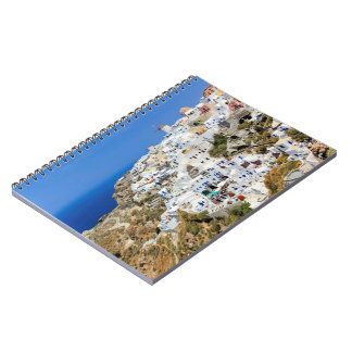 Oia village on Santorini island, north, Greece Notebooks