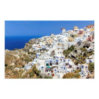 Oia village on Santorini island, north, Greece Personalized Stationery