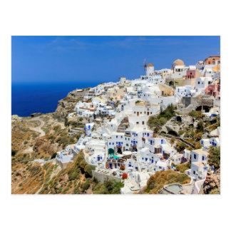 Oia village on Santorini island, north, Greece Postcard