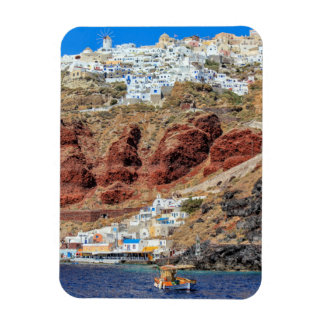 Oia village on Santorini island, north, Greece Rectangular Photo Magnet