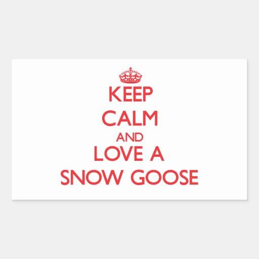 Oie de neige autocollants rectangulaires