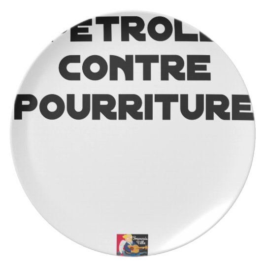 Oil against Rot - Word games Plate