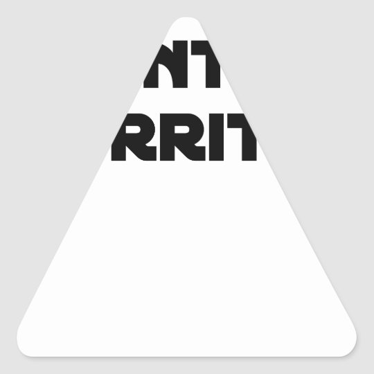 Oil against Rot - Word games Triangle Sticker