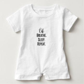 oil breathe sleep repeat - Essential Oil Product Baby Romper