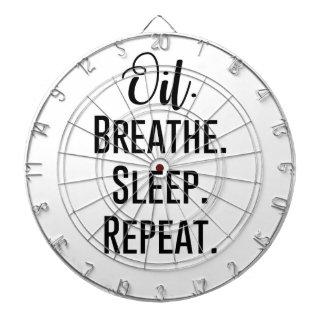 oil breathe sleep repeat - Essential Oil Product Dartboard