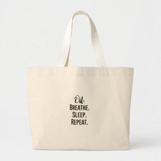 oil breathe sleep repeat - Essential Oil Product Large Tote Bag