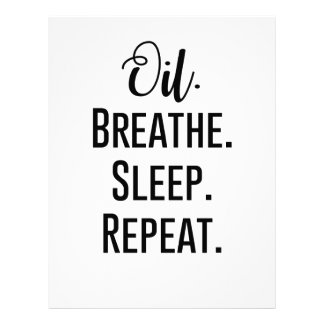 oil breathe sleep repeat - Essential Oil Product Letterhead