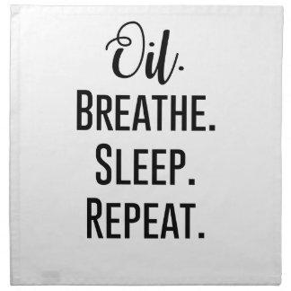 oil breathe sleep repeat - Essential Oil Product Napkin