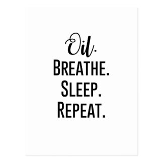 oil breathe sleep repeat - Essential Oil Product Postcard