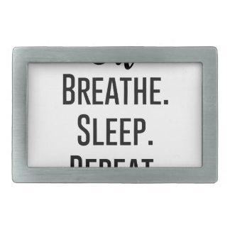 oil breathe sleep repeat - Essential Oil Product Rectangular Belt Buckle