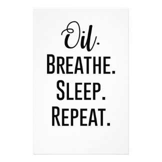 oil breathe sleep repeat - Essential Oil Product Stationery