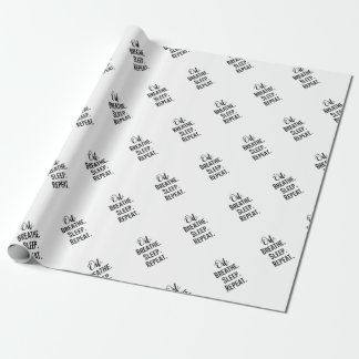 oil breathe sleep repeat - Essential Oil Product Wrapping Paper