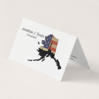Oil Drilling Rig, Alaska, Stars, Stripes Business Card