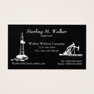 Oil Drilling Rig and Oil Pumping Units Business Card