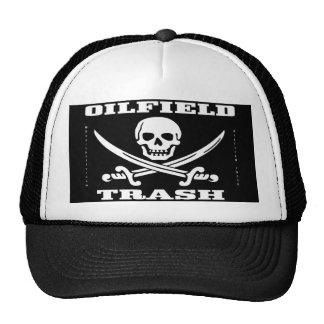 Oil Field Trash,Hat,Skull & Crossbones,Oil,Gas Trucker Hat