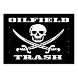 Oil Field Trash,Jolly Roger,Business Cards,Oil