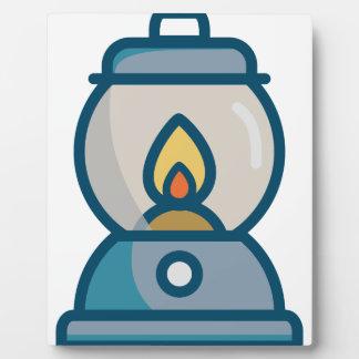 Oil Lantern Plaque