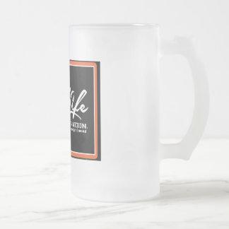 OIL LIFE Original Copyright Frosted Glass Beer Mug