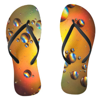 Oil on water flip flops
