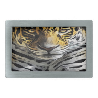 Oil Painting Rectangular Belt Buckles
