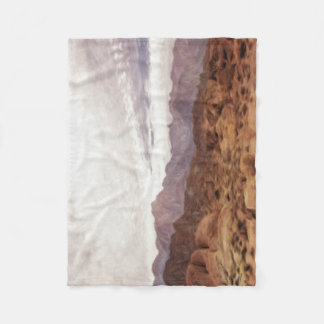 Oil Painting; Rocks, Mountains and Sky at Alabama Fleece Blanket