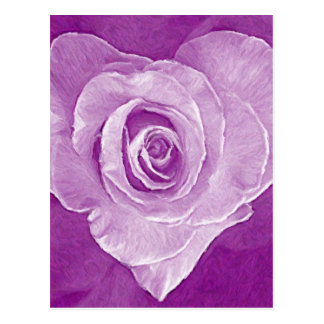 Oil Painting : Rosy Love Postcard
