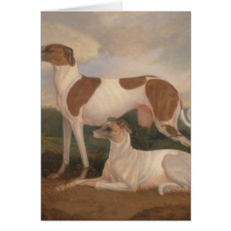 oil paintings of greyhounds card