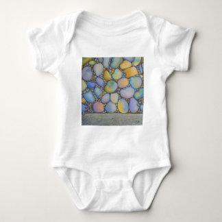 Oil Pastel River Rock and Pebbles Baby Bodysuit