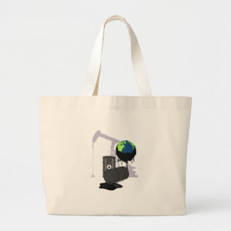 Oil Pollution Large Tote Bag