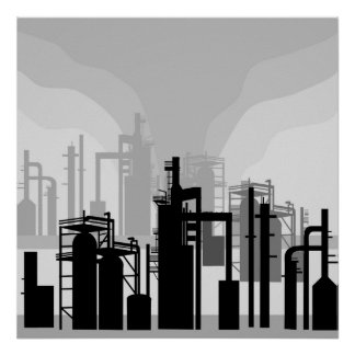 Oil Refinery Environment Poster